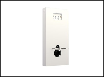 Cisterna empotrada QR-INOX botón blanca